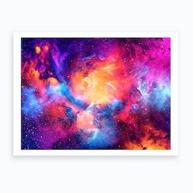 Artistic Xc Colorful Nebula Art Print
