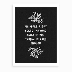 An Apple A Day Art Print