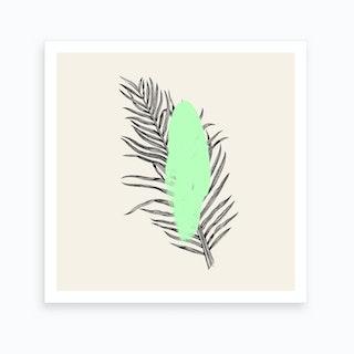 Tropical Tree Light Green Art Print