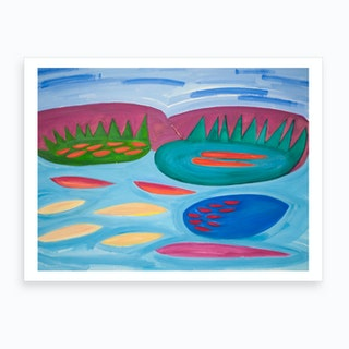Mountains And Pools Art Print