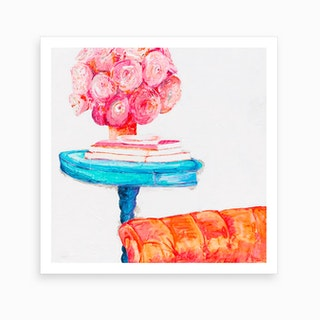 Big Orange Chair Art Print