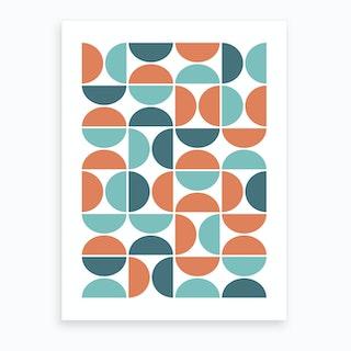Scandinavian Geometric Art Print