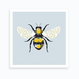 Floral Bee Art Print