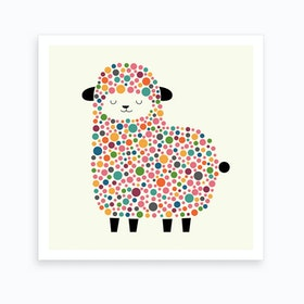 Bubble Sheep Art Print