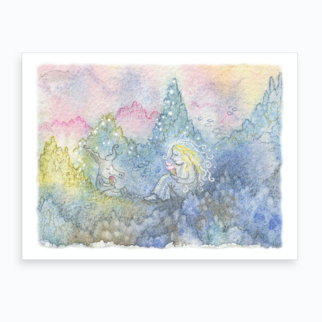 Mosspiglet Ice Cream  Art Print