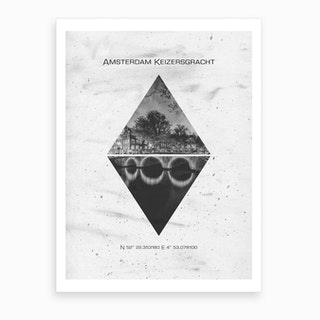 Amsterdam Keizersgracht Coordinates Art Print