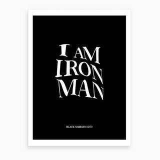 Black Sabbath Iron Man Art Print