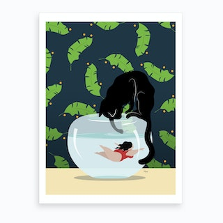 Just Keep Swimming Art Print