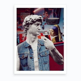David And The Girl Art Print