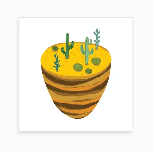 Desert Piece Art Print