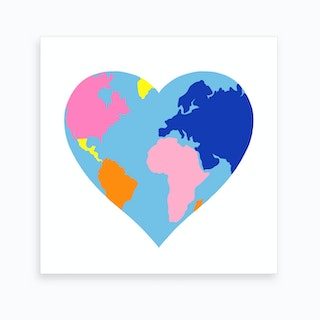 Love Our Planet Square Art Print