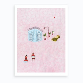 Girls In Cuba Art Print