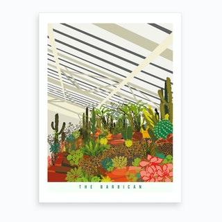The Barbican Conservatory London Art Print