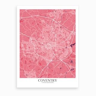 Coventry Pink Purple Map Art Print
