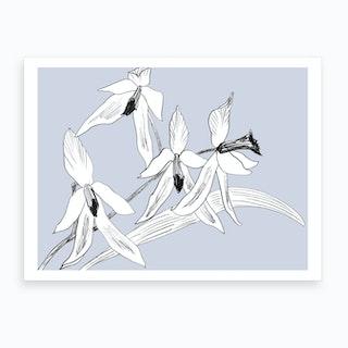 Expressive Orchids 2 Art Print