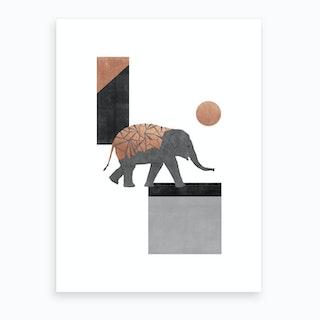 Elephant Mosaic I Art Print