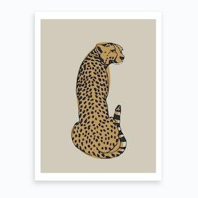 Beige Leopard Art Print