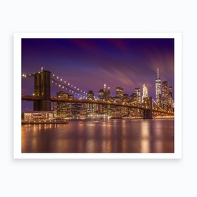 Brooklyn Bridge New York City Sunset Art Print