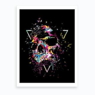 Skull X Art Print