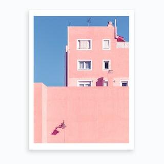 Sunny House And Blue Sky Art Print