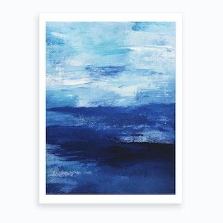 Indigo Ocean Art Print