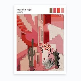 Muralla Roja Art Print