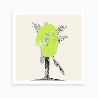 Tropical Tree Green Art Print