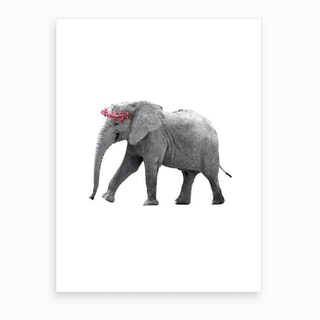 Dressy Elephant Art Print