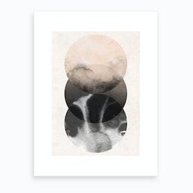 Abstract Nude Three Circles Art Print
