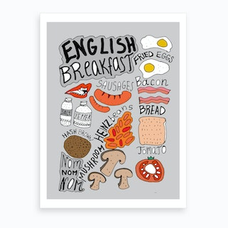 English Breakfast Grey Art Print