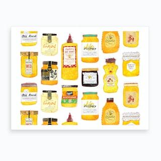 All The Honeys Art Print