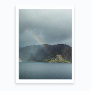 Fjord Rainbow Art Print