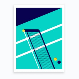 Midnight Tennis New York Art Print