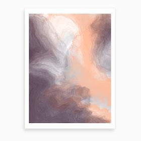 Smokey Apricot  Art Print