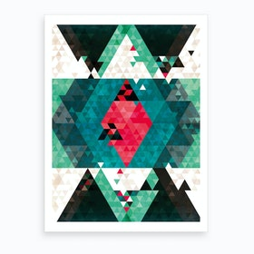 Bohemian Kilim Triangles Art Print