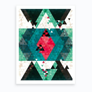 Bohemian Kilim Triangles Art Print