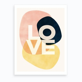 Shapes Of Love Art Print