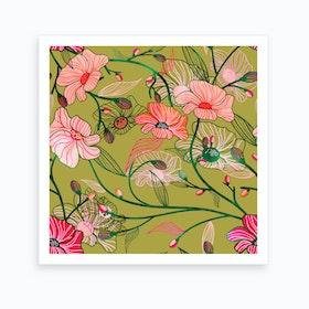 Two Floral Art Print
