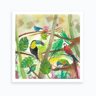 Tropical Birds Art Print