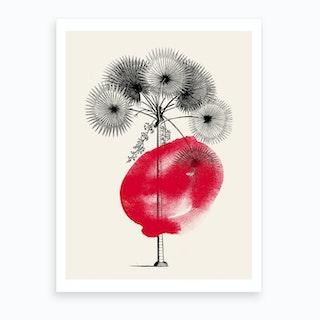 Tropical Tree Red Art Print