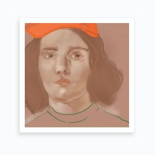 Orange Portrait 2 Art Print