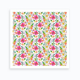 Spring Flowers Square Art Print