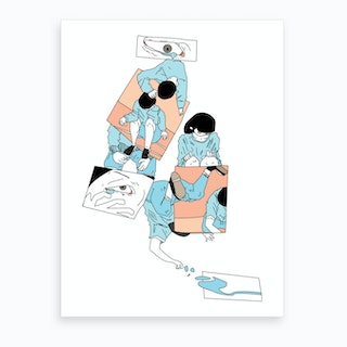 What Do You See In My Tears Art Print