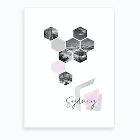 Urban Design Sydney Pink Art Print