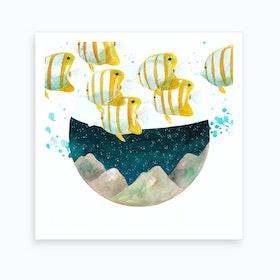 Tropical Fishes Art Print