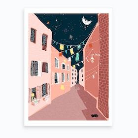 Mediterranean Night Art Print