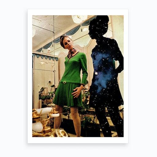 Women In Mirror Art Print