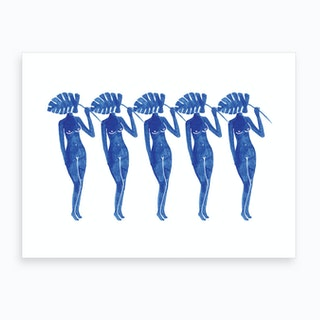 Blue Ladies Art Print