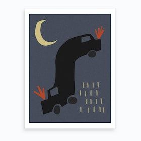 Night Limo Art Print