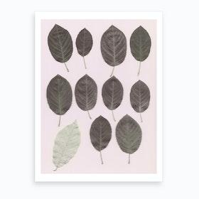 Autumn Parade Pink Art Print